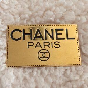 Chanel goldtone vintage pin